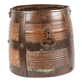 1930's Indian Wood Rice Vessel
