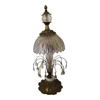 Brass Crystal Lamp
