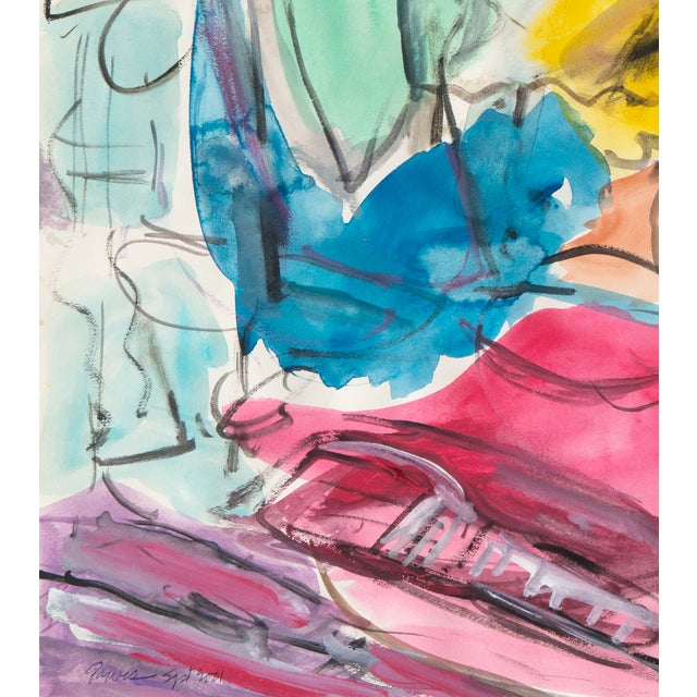 Expressionist Still Life Painting - Image 5 of 6