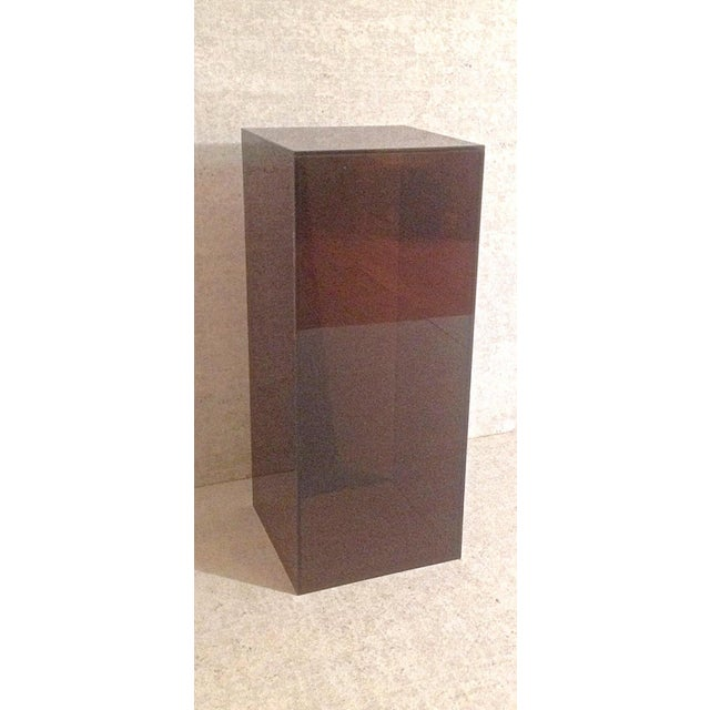 Vintage Smoked Lucite Pedestal - Image 3 of 5