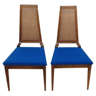 Mid-Century Chairs with Tweed Seats - A Pair