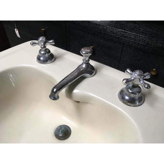 American Standard Antique Art Deco Pedestal Sink - Image 6 of 11