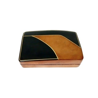 Italian Leather Trinket Box