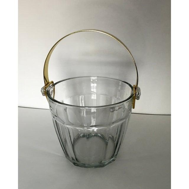 Vintage Glass & Brass Ice Bucket - Image 3 of 6