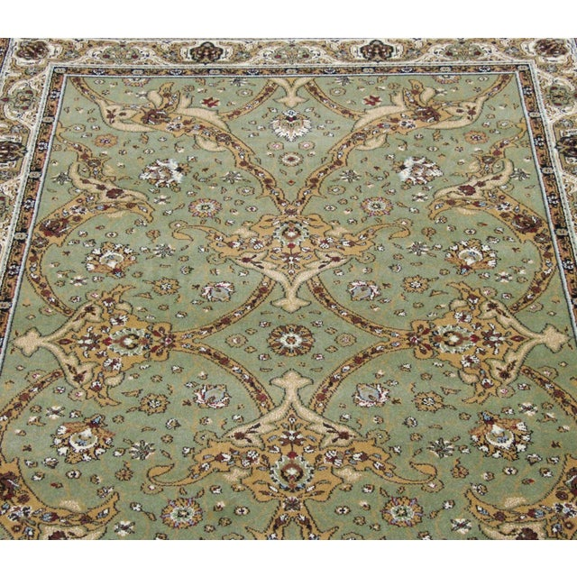 Persian Traditional Green Rug - 8′ × 11′ - Image 3 of 6