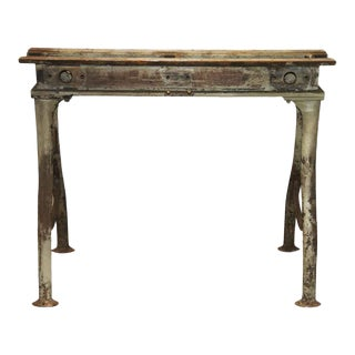 Antique Industrial Iron Base