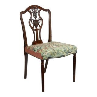 Sheraton Carved Mahogany Side Chair