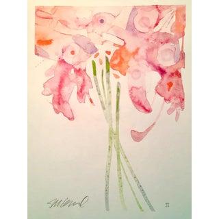 """Steve Klinkel """"Daytime Lilies"""" Watercolor Painting"""