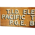 Image of 1950s Hand-Painted Wood Utility Billing Sign