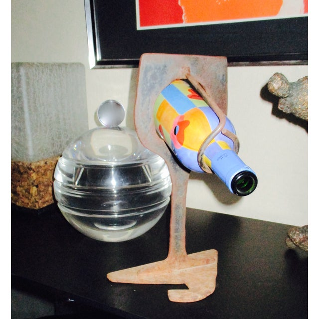 Mid-Century Modern Abstract Sculptural Wood Wine Holder - Image 10 of 11