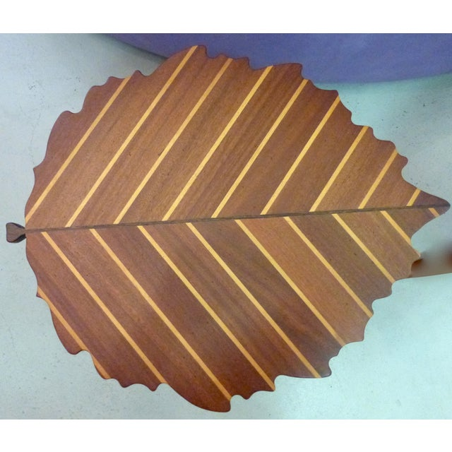 Handmade Wooden Leaf Shaped Side Tables - A Pair - Image 5 of 8