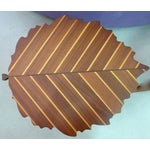 Image of Handmade Wooden Leaf Shaped Side Tables - A Pair