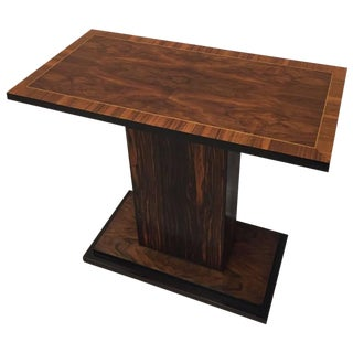 French Art Deco Macassar Ebony Accent Table