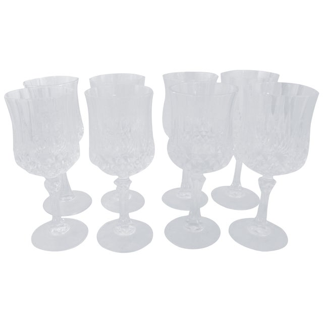 Vintage French Crystal Wine Glasses - Set of 8 - Image 1 of 6