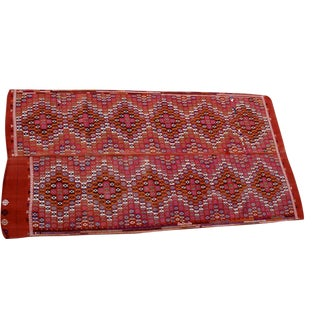 Vintage Handmade Bohemian Red and Pink Rug - 5'5'' X 10'3''