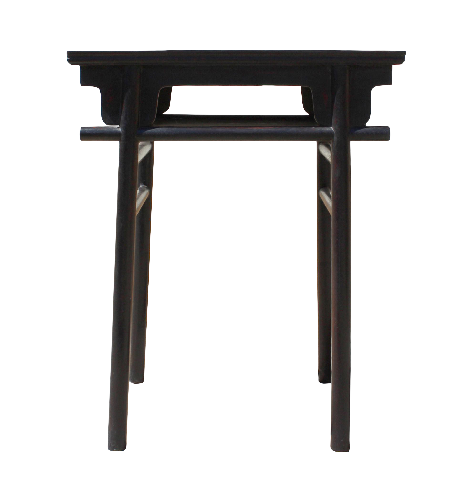Chinese Low Small Brown Huali Rosewood Plant Stand Side Table