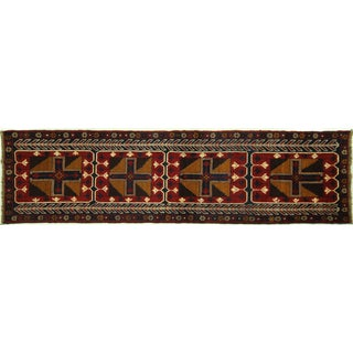 "Persian Baluch Red & Blue Rug - 2'7"" x 9'10"""