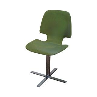 Mid-Century Chrome Pedestal Side Chair