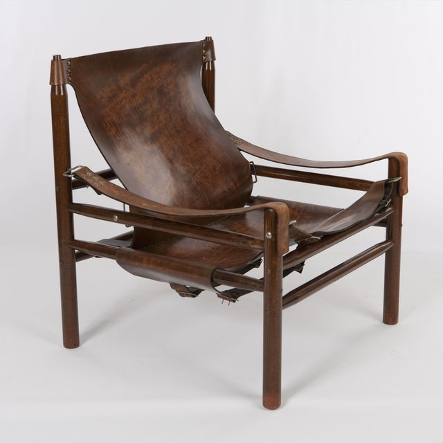 "Vintage Arne Norell ""Safari"" Chair - Image 3 of 5"