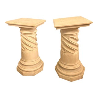 Composite Column Form Pedestals - a Pair