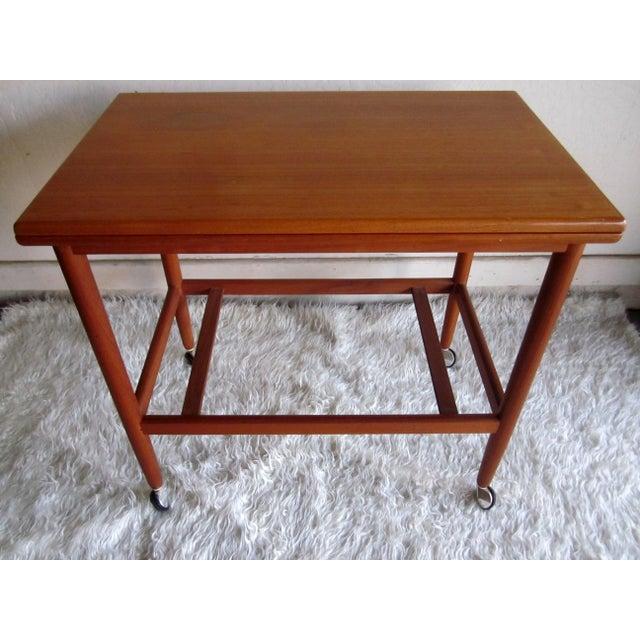 Image of Danish Modern Mid-Century Bar Cart Table