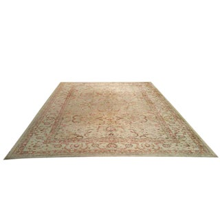 9′1″ × 11′5″ Traditional Handmade Wool Rug in Gold Beige - Size Cat. 9x12