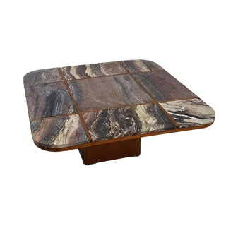 Bendixen Danish Modern Marble Top Coffee Table
