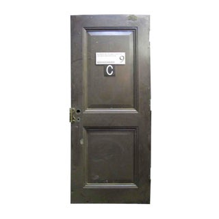 Reclaimed Metal Two Panel Fire Door