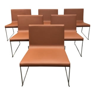 Andreu World Lineal Comfort Side Chairs - Set of 6