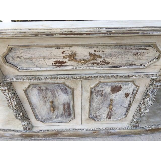 Vintage Distressed Hollywood Regency Sideboard - Image 7 of 8
