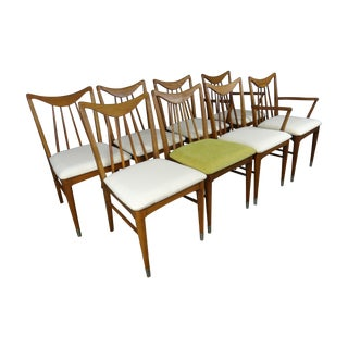 1950s Keller Hickory Chairs - Set of 8