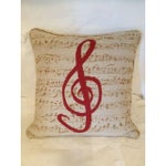 Image of Custom Music Clef Pillow
