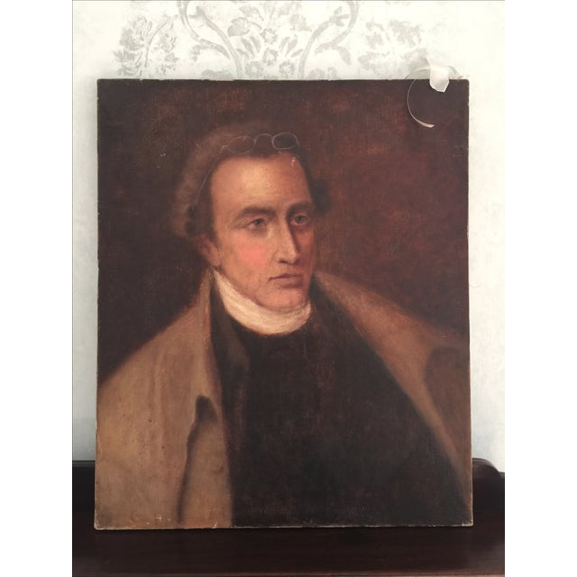 Image of Vintage Oil Portrait Painting of a Gentleman