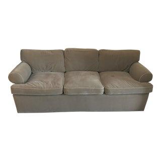 Contemporary Olive Mohair Sofa