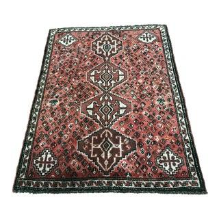 "Vintage Persian Shiraz Rug - 3'10"" x 5'2"""