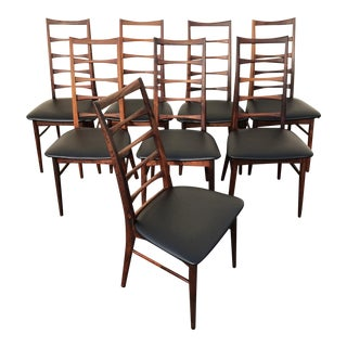 Niels Koefoed for Koefoeds Hornslet Lis Chairs - Set of 8