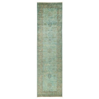 """Vibrance Over Dyed Hand Knotted Runner - 3'3"""" X 12'"""