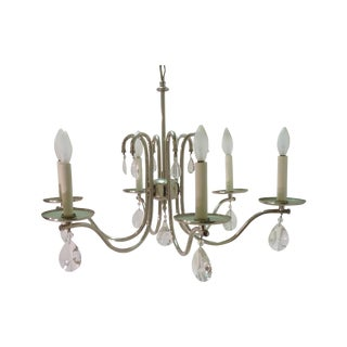 Modern Chrome Six-Light Chandelier