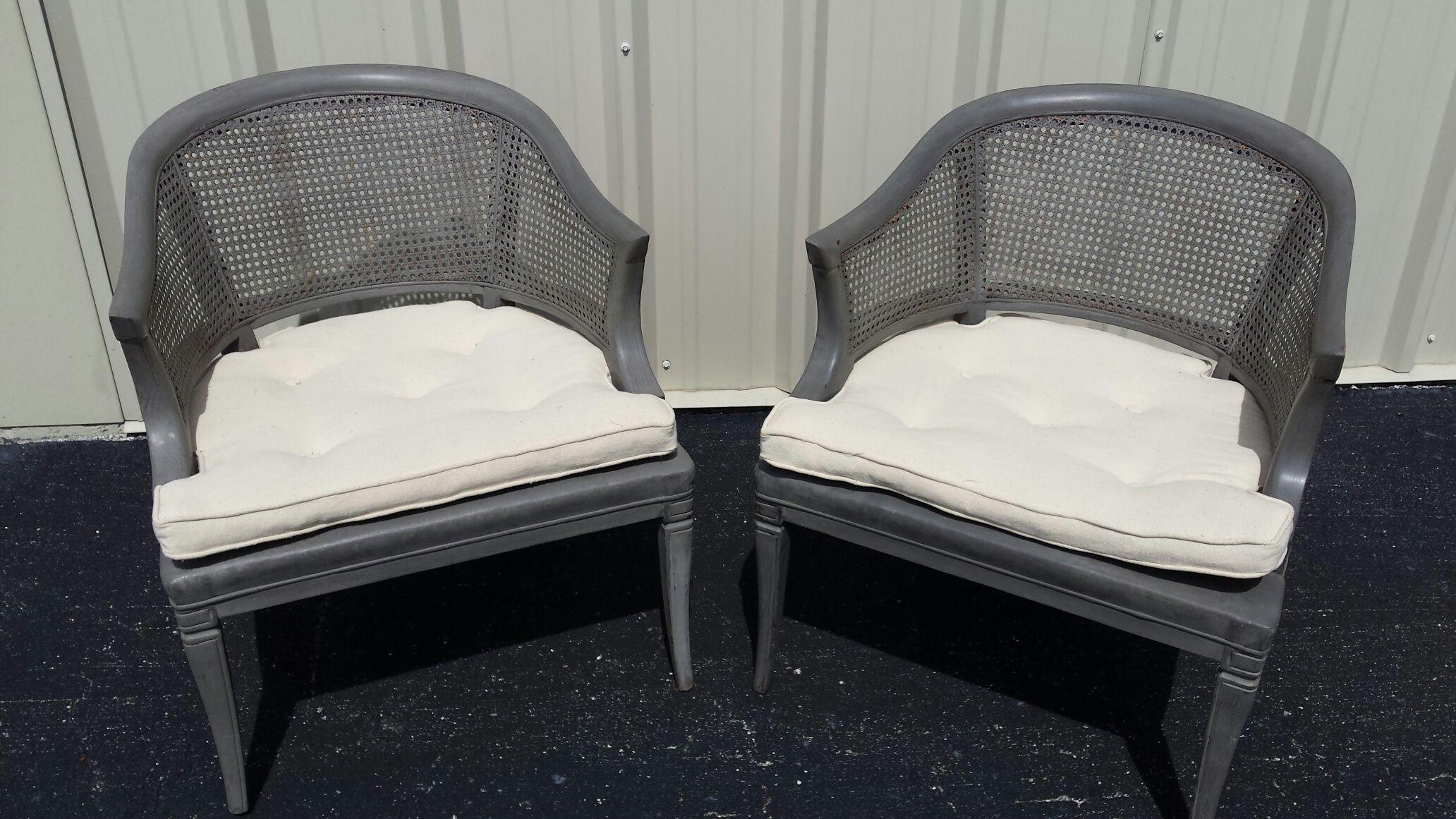 Vintage Cane Back Club Chairs A Pair Chairish