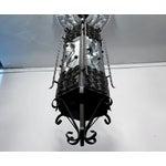 Image of Black & White Iron Pendant Chandelier