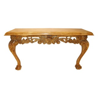 William Kent Style Carved Oak Console Table