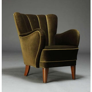 Danish 1940's Upholstered Armchair