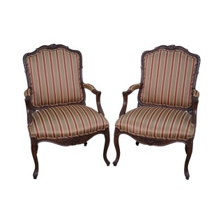 Freeman Interiors French Louis XV Style Chairs Fauteuils - a Pair
