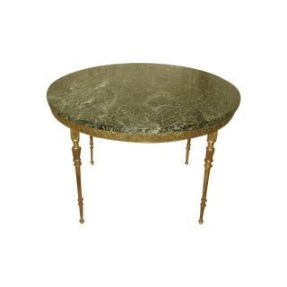 Bronze Neoclassical Marble & Mirror Coffee Table