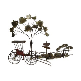 Curtis Jere Carriage at Crossroads Metal Wall Sculpture