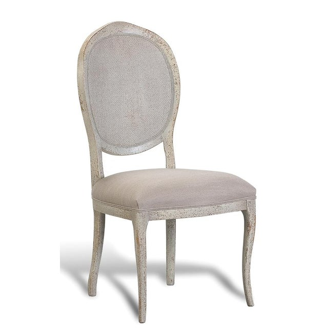 Abrella Oval Back Beige & White Dining Chairs - Set of 4 - Image 3 of 4