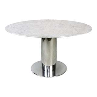 Polished Stainless Steel Dining Table Base