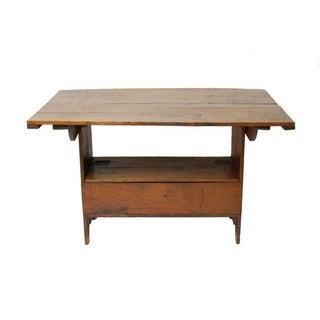 Vintage Industrial Architect Wood Desk