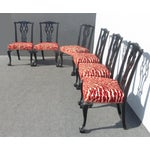 Image of Chippendale Dining Chairs, Claw Feet - Set of 6