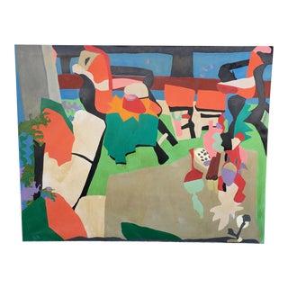 Richard De Quatro Oil on Canvas Painting